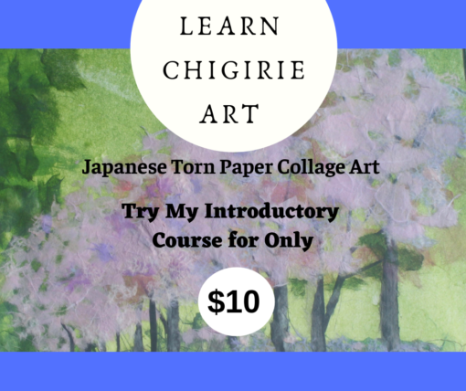 Buy Chigirie Japanese Torn Paper Collage Art