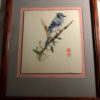 Blue Jay Japanese Torn Paper Collage art original