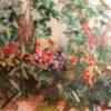 Botanical Garden Chigirie Japanese Torn Paper Collage Art
