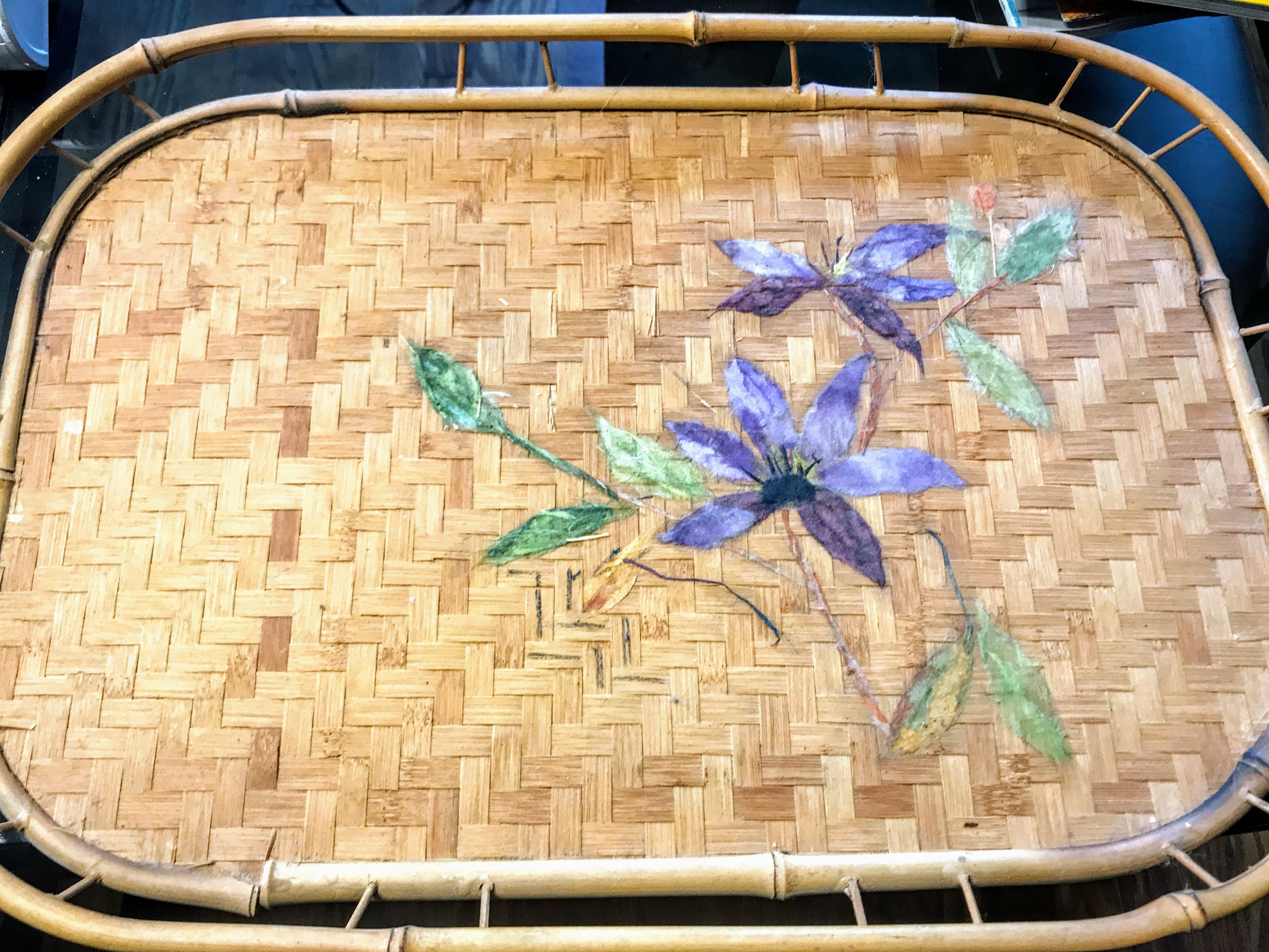 Chigirie transforms a serving tray from bland to beautiful with washi art